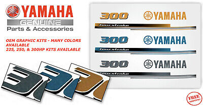 AU112.23 • Buy YAMAHA 250 Outboard Graphic Kit CANARY YELLOW OEM Full MAR-426KT-70-03