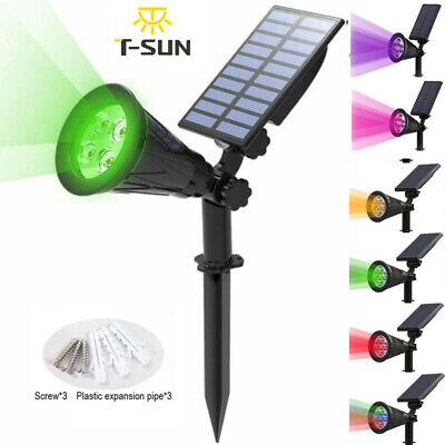 LED Solar Spot Lights Wall Outdoor Garden Yard Path Lamp Security Waterproof UK • 10.19£