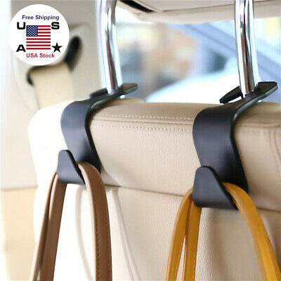 $6.56 • Buy 2pcs Car Seat Hook Purse Bag Hanger Organizer Holder Clips Accessories Universal