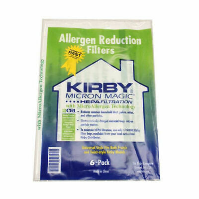 Kirby Bag 204811 HEPA White Cloth Allergen Reduction Filter Bags X 6 Genuine • 14.99£