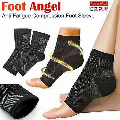 2 X Plantar Fasciitis Compression Socks Heel Foot Arch Pain Relief Support Pair • 2.99£