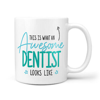 Awesome Dentist Gift Mug - Thank You Present For Dentists, Dental Nurse, New Job • 8.95£