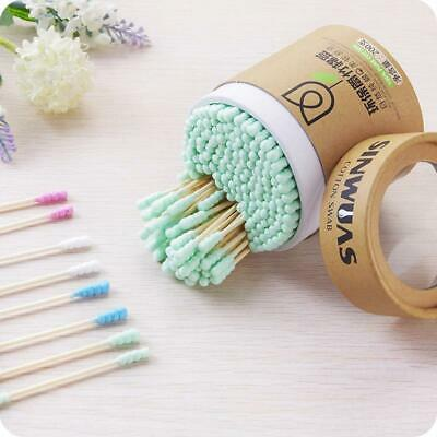 $ CDN17.85 • Buy Bamboo Cotton Swabs Wood Sticks Double Headed Cleaning Of Ears Cotton Q Tips Kit