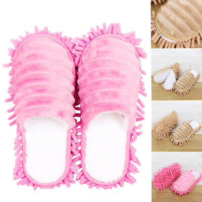 Dust Duster Mop Slippers Shoes Cover Soft Washable Reusable Shoe Stock • 8.26£
