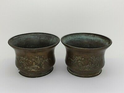 £30 • Buy Antique Chinese Export Bronze 3D Pair Of Planter Vases