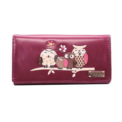 Women's Medium Size Owl Family And Tree Pattern Clutch Wallet / Purse  • 7.99£