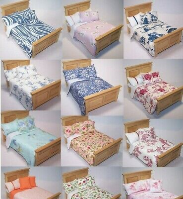 Dolls House Bedding Set 1/12- Handmade-Bed-Double Size-Group 9  • 6.99£
