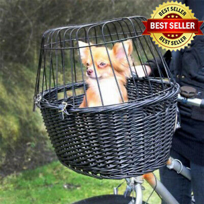 Rear Mounted Bicycle Rack Travel Cycling Basket Dog & Cat Bike Carrier Wicker • 51.02£