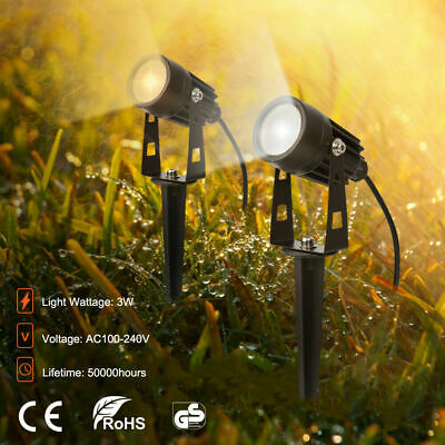 LED 240V Mains Garden Spot Lights Outdoor Yard Lawn Waterproof Ground Spotlight • 8.99£