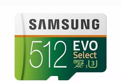 $130 • Buy Micro SD Memory Card 512GB Samsung EVO Select 100MB/s SDXC Android Galaxy S9 S10
