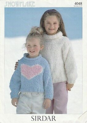 Sirdar 4048 Child's Cropped Top & Sweater  (knitting  Pattern) • 2£