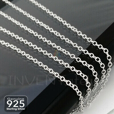 925 STERLING SILVER OVAL CHAIN 2.2x1.8mm By Metre For Jewellery Making 714_62 • 7.12£