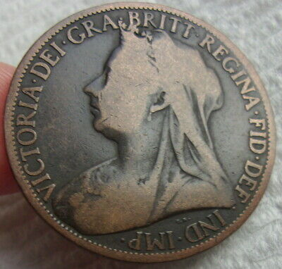$9.99 • Buy Great Britain 1898 Queen Victoria One Penny Coin