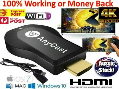 AU28.98 • Buy 4K AnyCast M2 MiraCast HD TV Dongle HDMI Airplay DLNA For Chromecast IOS Android
