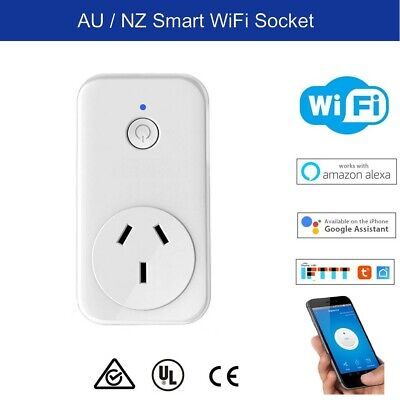 AU19.50 • Buy WiFi Smart Socket Plug For Home Automation, Alexa, Google Home Voice Control