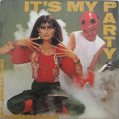 D Stewart With B Gaskin - It´s My Party - 7  Vinyl Single - Picture Sleeve • 2.90£