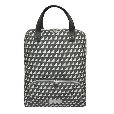 Earth Squared Oil Cloth Backpack In Grey Triangle  • 39.99£