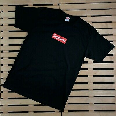 $ CDN289.65 • Buy Mens T Shirt Supreme Box Logo Black Size L AUTHENTIC