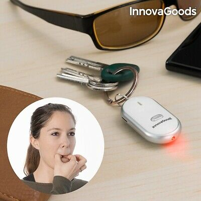 Home New Gadget Tech LED Keychain Beep Sound Activate Button Whistle Key Finder • 6.99£