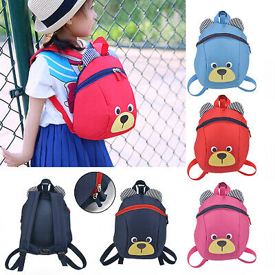 Kids Toddler Walking Safety Harness Backpack Security Strap Bag With Reins UK • 5.69£
