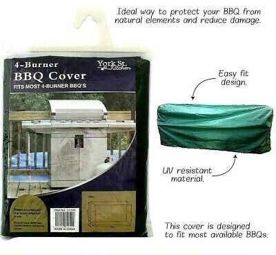 AU14.99 • Buy BBQ Grill Cover 4 Burner- Black Colour Waterproof Barbeque Protector