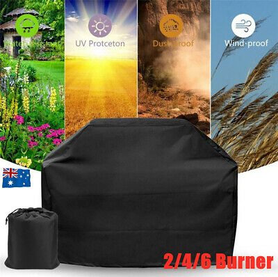 AU16.98 • Buy BBQ Cover 2/4/6Burner Outdoor UV Rain Dust Protector Gas Charcoal Barbecue Grill
