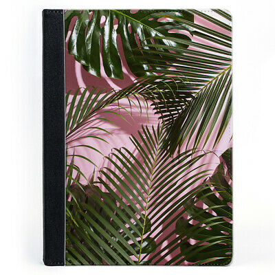 Palm Tree Monstera Plant Leaves Pink Wallet Tablet Leather Case Cover • 18.99£