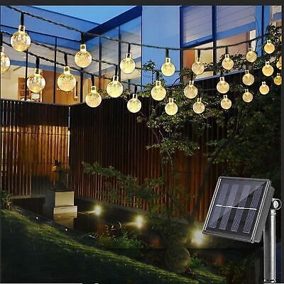 Solar Powered Garden Party 30 50 LED Fairy String Crystal Ball Outdoor Lights • 11.99£