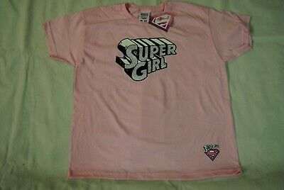 £5.99 • Buy Supergirl Glitter Logo Pink Dc Comics Exhibition Child Kids T Shirt New Official