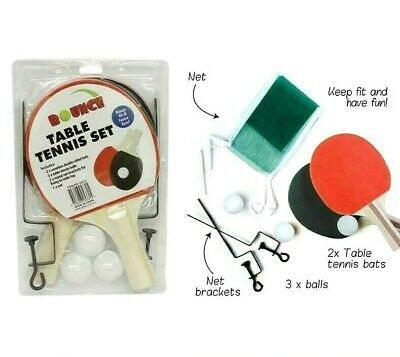 AU7.99 • Buy Table Tennis Set 8pc Table Tennis Net And Posts Bats And Balls