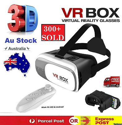 AU27.40 • Buy VR Headset VR BOX Virtual Reality Glasses 3D Controlelr For IPhone IOS Androiad