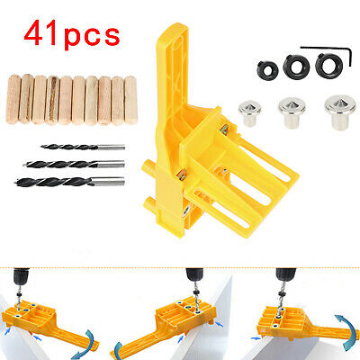 Handheld Woodworking Doweling Jig Drill Guide Wood Dowel Drilling Hole Saw Kit  • 7.89£