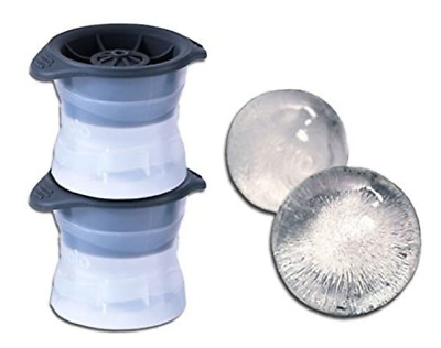 MisterChef® Large Clear Ice Ball Cube Sphere Mould Maker Press - Set Of 2 • 15.99£