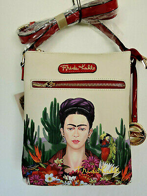 $44.99 • Buy FRIDA KAHLO Cactus Series Red And Beige Messenger Bag Licensed Authentic