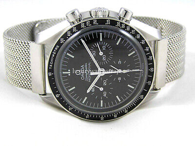 REFINED STEEL MESH WATCH STRAP BRACELET FOR OMEGA SPEEDMASTER 20mm WATCH • 39.95£
