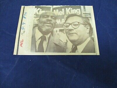 $ CDN21.43 • Buy 1983 Rep Barney Frank Stands With Mel King Vintage Wire Press Photo