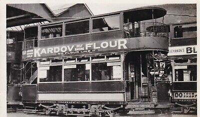 Pontypridd Wales C1910 PC Double Decker Tram With Kardov Flour Advert Unused • 10£