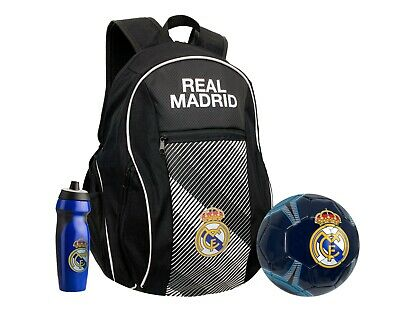 £36.28 • Buy Real Madrid Backpack With Soccer Ball Size 5 And  Real M. Water Bottle