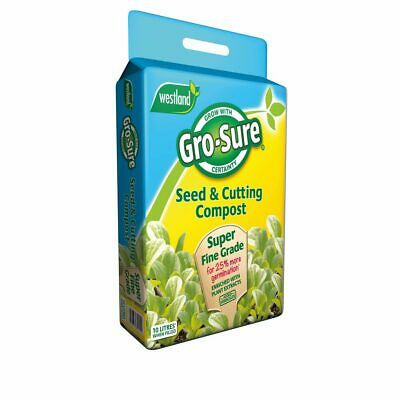 £7.50 • Buy Gro-Sure Seed & Cutting Compost With Fine Grade Vermiculite 10 Litres - 10L Bag