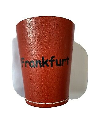 £4.99 • Buy Leather Dice Cup, Quiet Shaker, Personalised, Perudo, Casino Games, Yahtzee,