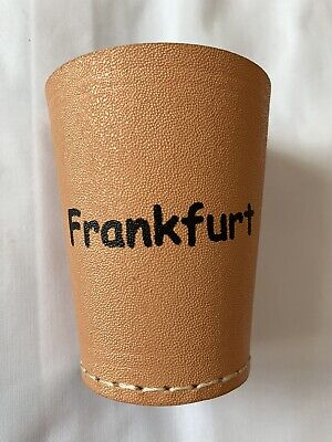 £4.99 • Buy Leather Dice Cup, Quiet Shaker, Personalised, Perudo, Casino Games, Yahtzee..!!!
