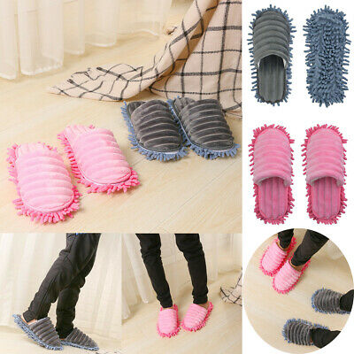 £10.99 • Buy 1 Pair Mop Slippers Quick Polishing Lazy Cleaning Dust Floor Foot Socks Shoes