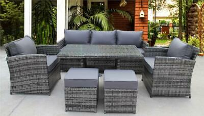 Rattan Wicker Garden Outdoor Cube Table And Chairs Furniture Patio Dining Set  • 749.99£