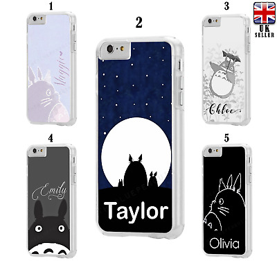 Personalis Name Text My Neighbor Totoro Hard Case For IPhone 6 7 8 SE XS 11 Pro • 6.99£