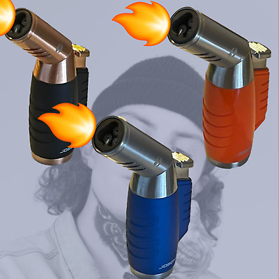 £16.80 • Buy JOBON Cigarette Lighter Quad Precise Flame Torch Cigar Gas Lighters In Gift Box