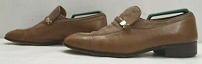 £13.97 • Buy BALLY Mens Brown 100% Leather Slip On Shoes Size UK 7 EU 41
