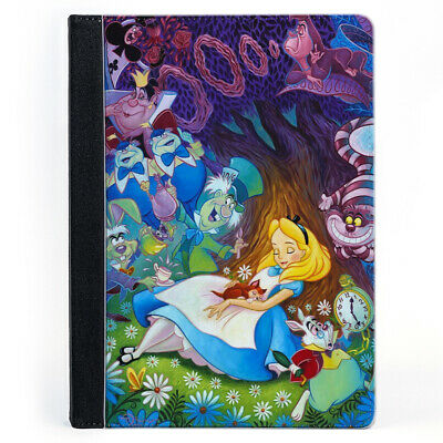 Alice In Wonderland Dreaming White Rubbit Tree Wallet Tablet Leather Case Cover • 17.99£