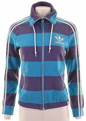 $28.93 • Buy ADIDAS Womens Tracksuit Top Jacket Size 38 Small Multicoloured Cotton  NK08