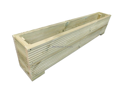 Large Wooden Decking Planter Trough, Raised Flower Bed, Plant Box, Various Sizes • 46.99£