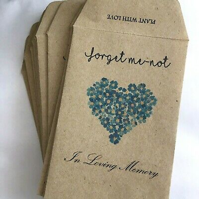 10 Forget Me Not Seed Packets Memorial|Forget Me-not (with Seeds) Remembrance  • 4.50£